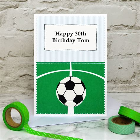 football birthday cards to make football personalised birthday card by arnott