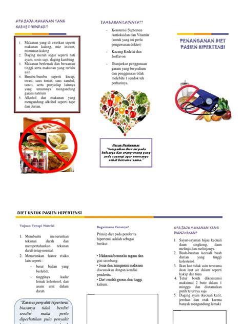 leaflet diet pasien hipertensi