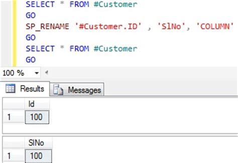How To Rename Column Name In Sql Server Sqlhints Com Sql Change Table Name