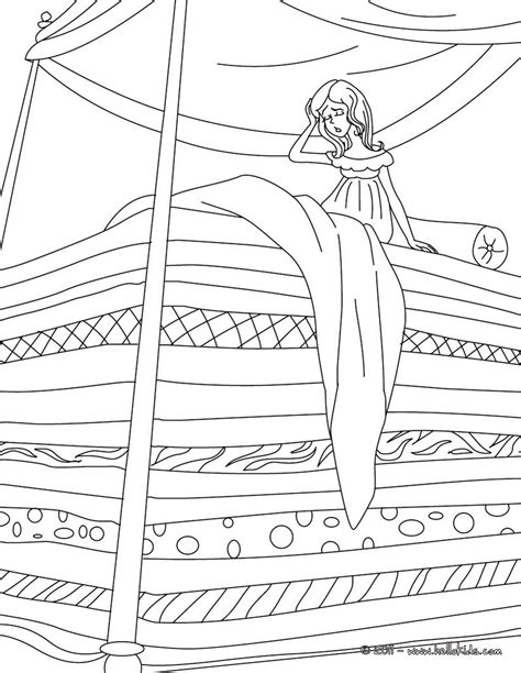 The Princess And The Pea Coloring Pages Hellokids Com Princess And The Pea Coloring Pages Free Coloring Sheets