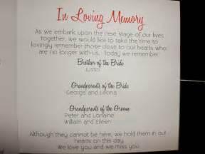 in memory of wedding program in loving memory wedding program wording myideasbedroom