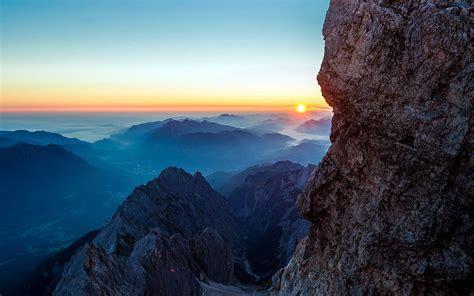 ma dawn  mars mountain nature papersco