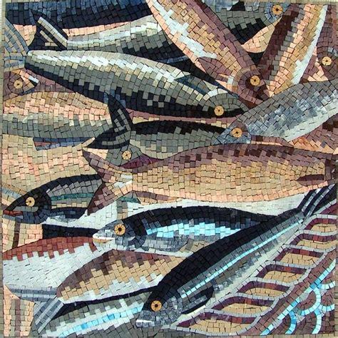 Mosaique Salle De Bain 971 by Of Fish Nautical Mosaic Mosaique