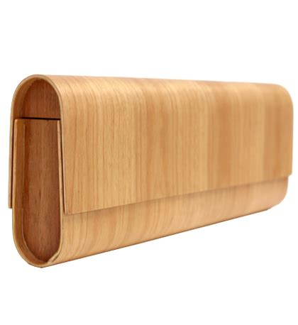 Ports 1961 Wooden Clamshell Clutch by Charitybuzz Wear A Conversation Starter Ports 1961
