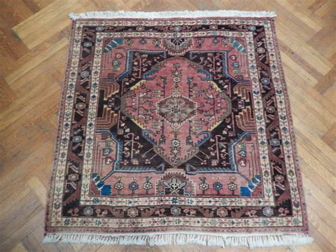 Square Carpets Rugs by Semi Antique Heriz Decorative Handmade Square