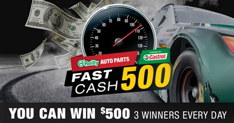 O Reilly Gift Card - o reilly auto parts fast cash 500 sweepstakes 2018