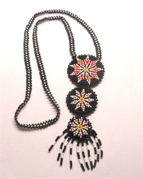 indian bead necklace american glass seed bead necklace haute juice