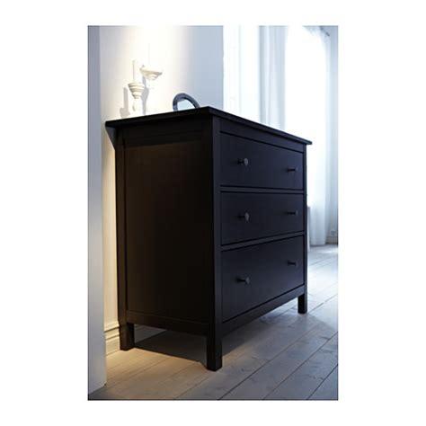 hemnes 3 drawer chest ikea hemnes chest of 3 drawers black brown 108x95 cm ikea