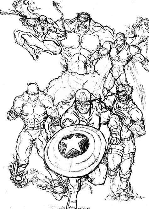 marvel printable coloring pages