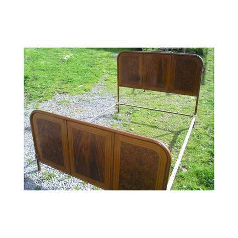 lit en fer marron 140 x 190 cm vintage broc23