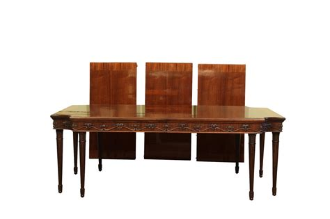 Vogue Dining Table Style Neoclassical 8 Leg Mahogany Dining Table With 3 Leaves High End Ebay