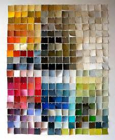 Colorful Wall Decor by Wall Decor Paint Chip Wall Colorful