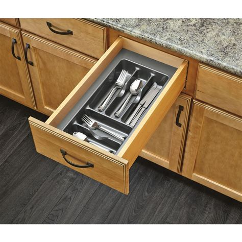 Shop Rev A Shelf 21.25 in x 11.5 in Plastic Cutlery Insert Drawer Organizer at Lowes.com