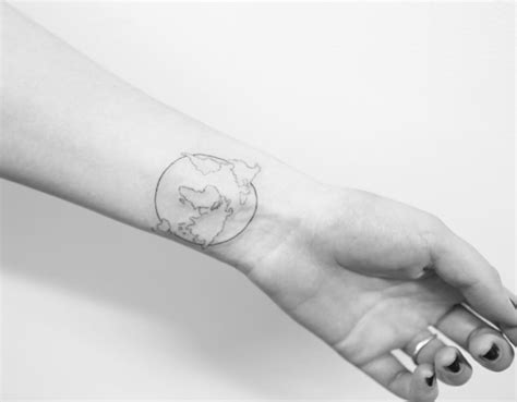 minimalist tattoo travel 40 world map tattoos that will ignite your inner travel