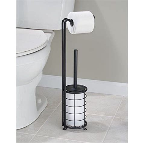 free standing toilet paper holder with storage bathroom toilet paper holder toilet brush combo storage