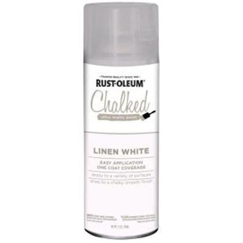 rust oleum 12 oz linen white ultra matte interior chalked spray paint 302591 the home depot