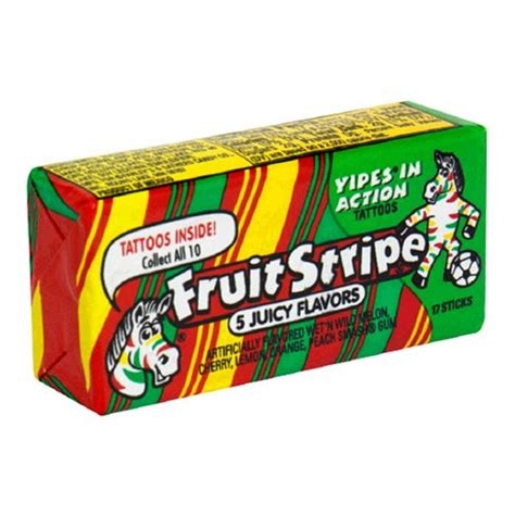 fruit stripe gum fruit stripe gum 5 flavors 17 count packs pack of 12