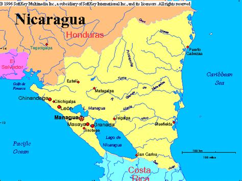 san jose nicaragua map new page 1 www radford edu
