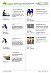 home exercise program how to treat achilles tendinitis tone and tighten