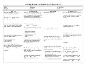 Sample Fba Report Best Photos Of Student Behavior Report Template Student