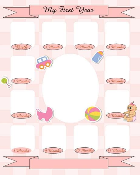 baby collage templates baby s year collage templates discovery center store