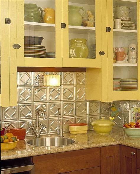 Vintage Kitchen Backsplash 25 Best Tin Tile Backsplash Ideas On Pinterest Slate Backsplash Ceiling Tiles Painted And