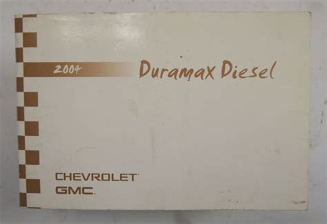 chevy gmc sierra silverado duramax diesel owners manual