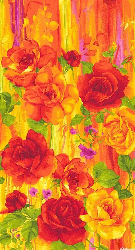 rosa blazing orange 24 quot x 44 quot panel quilt fabrics from www equilter