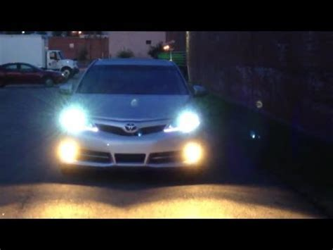 2012 toyota camry hid 8000k with drl youtube