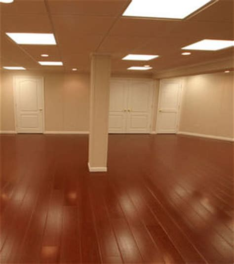 wood laminate basement floor finishing warrantied
