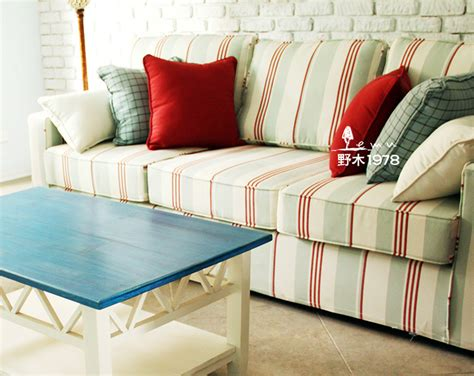 red stripe sofa aliexpress com buy mediterranean red white and green