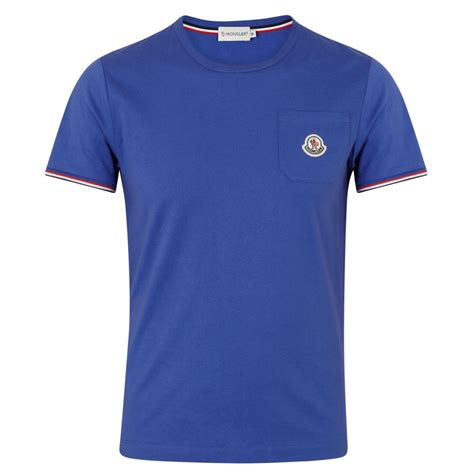 Monclercotton T Shirt moncler cotton jersey tshirt in blue for lyst