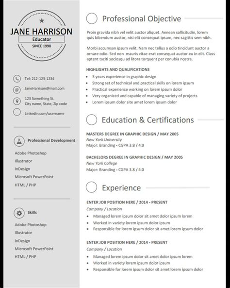 Stand Out Resume Templates by Amazing Stand Out Resume Templates Word Model Exle