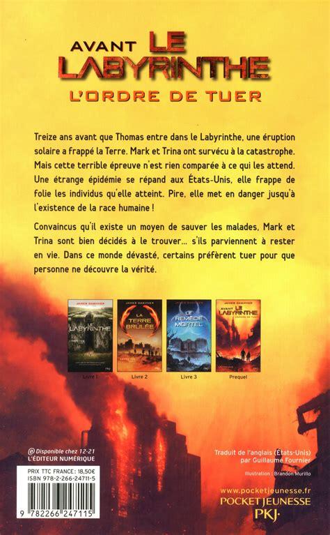 le livre des feux 226406675x livre l 201 preuve pr 233 quel avant le labyrinthe l ordre