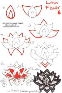 Step By Step Lotus Flower Drawing Lotus Drawing On Lotus Flower Drawings Pink