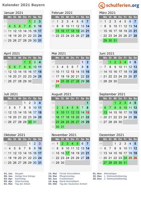 kalender  ferien bayern feiertage