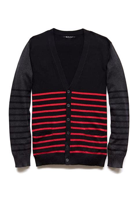 Flat Black Sweater Hoodie Black Premium Nation Original forever 21 favorite striped cardigan in black for lyst