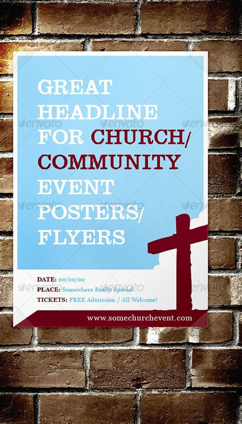 church event flyer templates print template graphicriver church community event