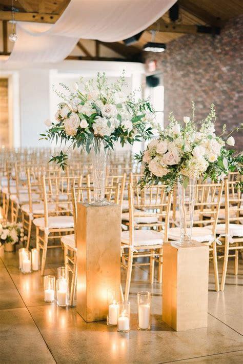 timeless indoor wedding ceremony decoration ideas