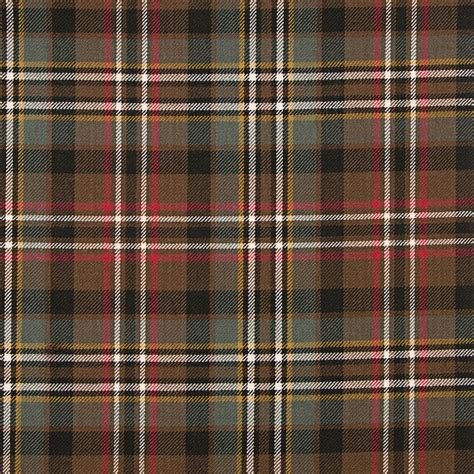 Kemeja Tartan Black Blue green weathered medium weight tartan fabric lochcarron of scotland