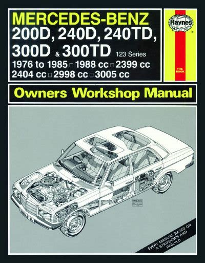 mercedes benz w124 series repair manual 1985 1993 haynes 3253 w123 service manual