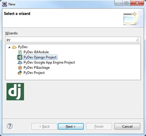 creating new django project create a django python project with pydev