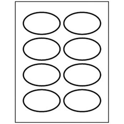 Templates Blank Oval Name Badges 8 Per Sheet Avery Blank Name Tag Template