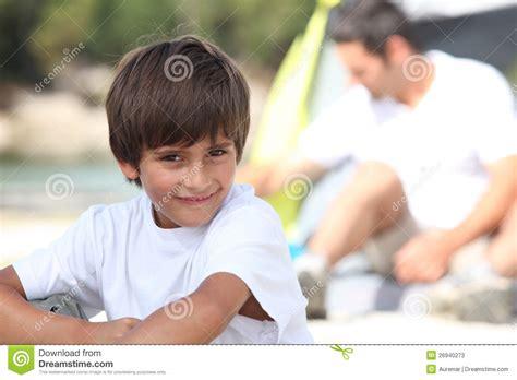 trip boy boy on a cing trip stock image image of