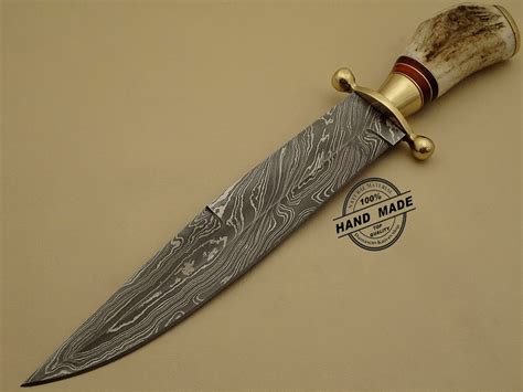 Handcrafted Bowie Knives - professional damascus bowie knife custom handmade damascus