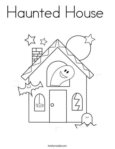 halloween coloring pages of a haunted house haunted house coloring page twisty noodle