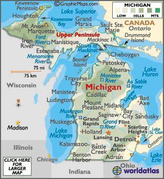 geography of michigan world atlas