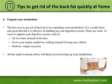 how to get rid of fat tips to get rid of back fat quickly at home