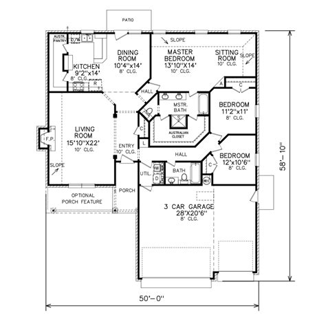perry home plans floor plan 7014