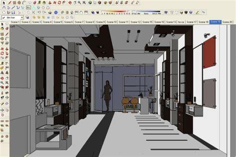 making  beauty salon sketchup  rendering tutorials